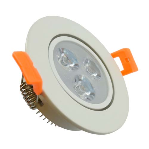 "3st Downlight LED 4W/830 3000K  280 lm ""Vit"" IP20"