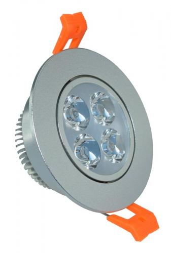 "3st Downlight LED 4W/830 3000K  280 lm ""Stål"" IP20"