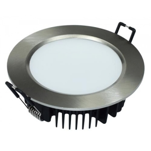 "6st LED downlight Dimbar ""Vit /Borstadstål"" 8W/830/840/865  3000/ 4000K/ 6500K 700lm/750lm IP44"