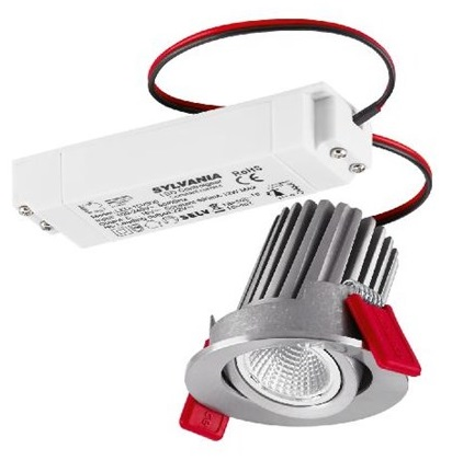Lumiance Instar Eco kit LED 10W/830 3000K 462lm 36° IP23 IK02 Borstat Aluminium