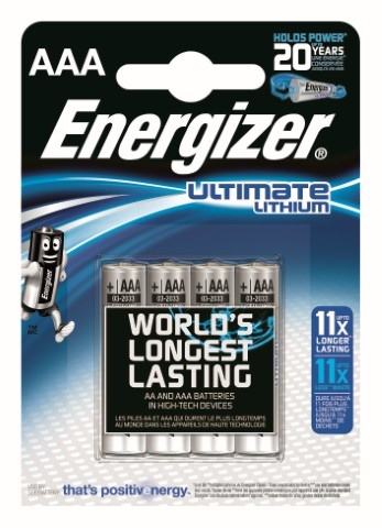 Energizer L92 Ultimate Lithium R03 AAA