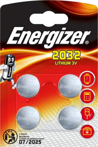 4 x Mini Litiumbatteri Energizer CR2032