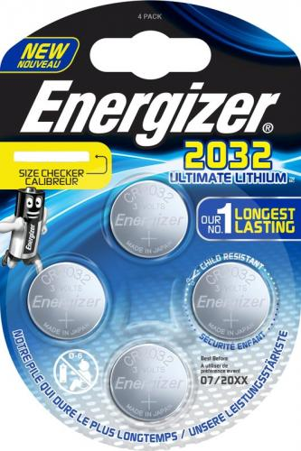 4 x Mini Litiumbatteri Energizer Ultimate Lithium CR2032 Min.Leverans:6st