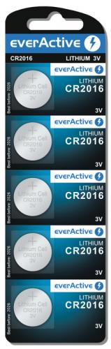 5x mini everActive litiumbatteri CR2016