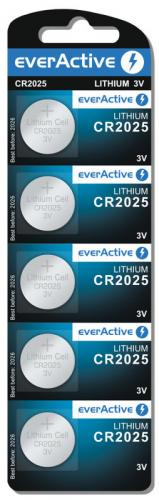5x mini everActive litiumbatteri CR2025