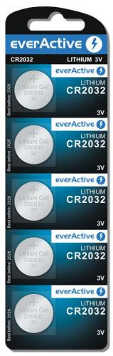 5x mini everActive litiumbatteri CR2032