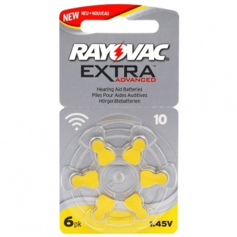 10st Rayovac 6 x batterier för hörapparater Rayovac Extra Advanced 10 MF