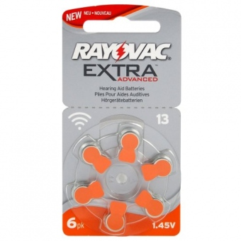 10st Rayovac 6 x batterier för hörapparater Rayovac Extra Advanced MF 13