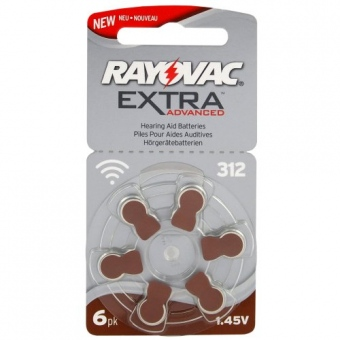 10st Rayovac 6 x batterier för hörapparater Rayovac Extra Advanced MF 312