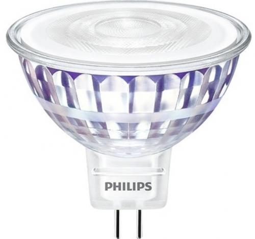 PHILIPS DIM LED MR16 7W (50) 2700K 621lm GU 5.3 36D Min.Leverans:4st