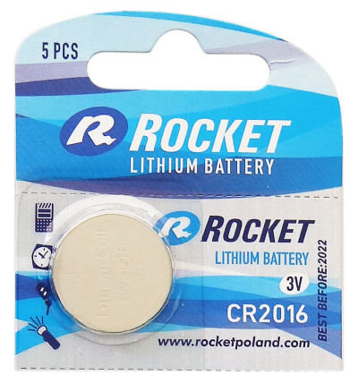 Litium ROCKET CR2016 batteri