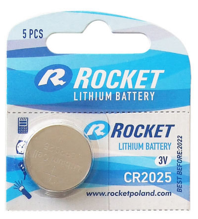 Litium ROCKET CR2025 batteri