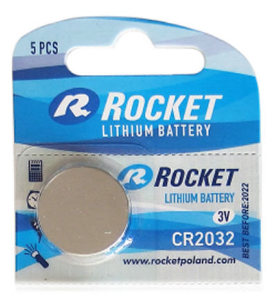 Litium ROCKET CR2032 batteri