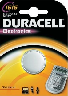 Duracell Mini litiumbatteri CR1616 DL1616 ECR1616