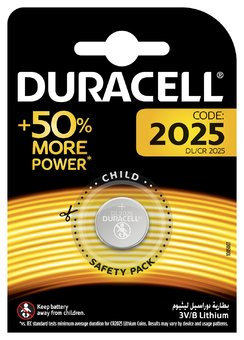 2 x Mini Litium batteri Duracell CR2025 DL2025 ECR2025
