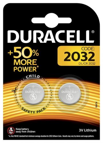 Mini litiumbatteri Duracell CR2032 DL2032 ECR2032 2BL