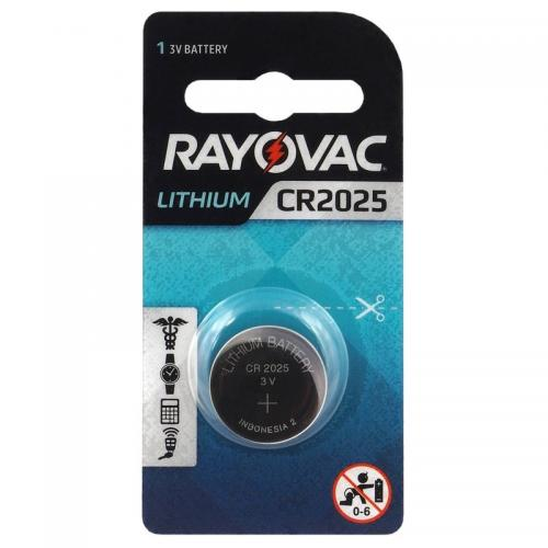 Lithium battery Rayovac CR2025  Min.Leverans:20st