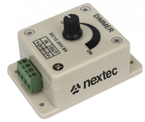 1st Nextec LED-Rotation dimmer 12Vdc - 24Vdc 8A