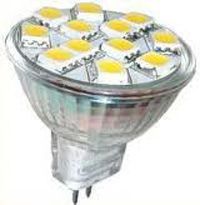 LED-MR11 2,4W 10-30Vdc/10-18Vac 2700K 180lm