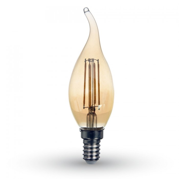 LED Lampa E14 - Vintage & Retro Flamma 4W