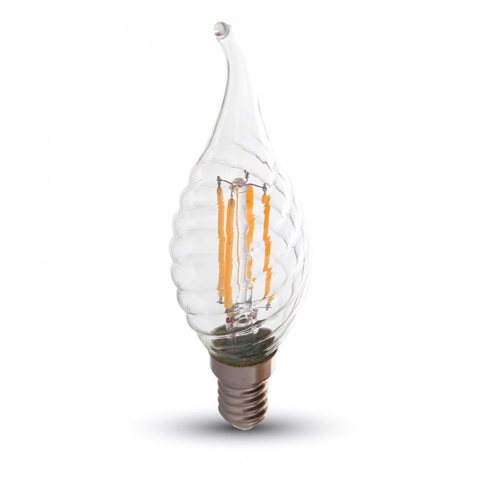 LED Lampa E14 - Swirl Flame Filament Dimbar 4W - Warm White