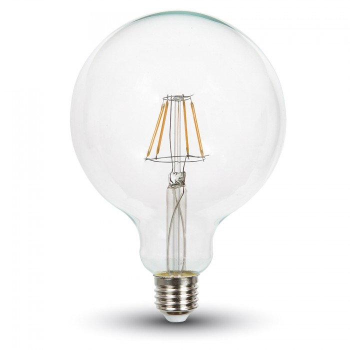 4W G125 Filament Dimmable LED Bulb E27-Warm white