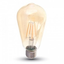 LED Lampa E27 - Filament / Kolsträng 8W ST64 - Warm White