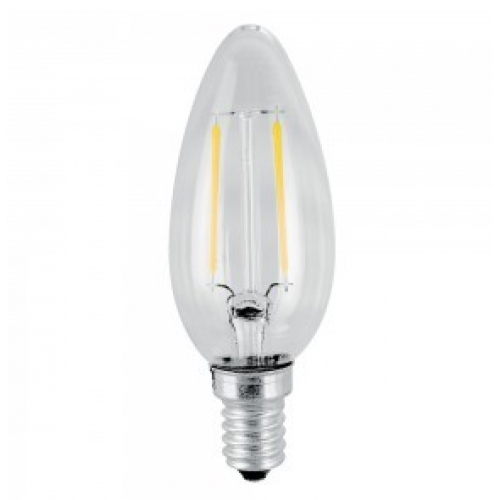 2W Candle Filament LED Bulb - E14-Warm white
