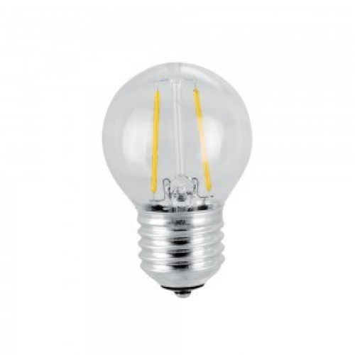 Filament / Kolsträng LED Lampa E27 - G45 Warm White 4W