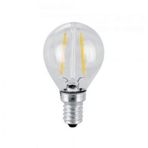 LED Lampa E14 - P45 Filament / Kolsträng - Warm White 4W