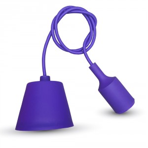 Purple Simple LED Bulb Pendant