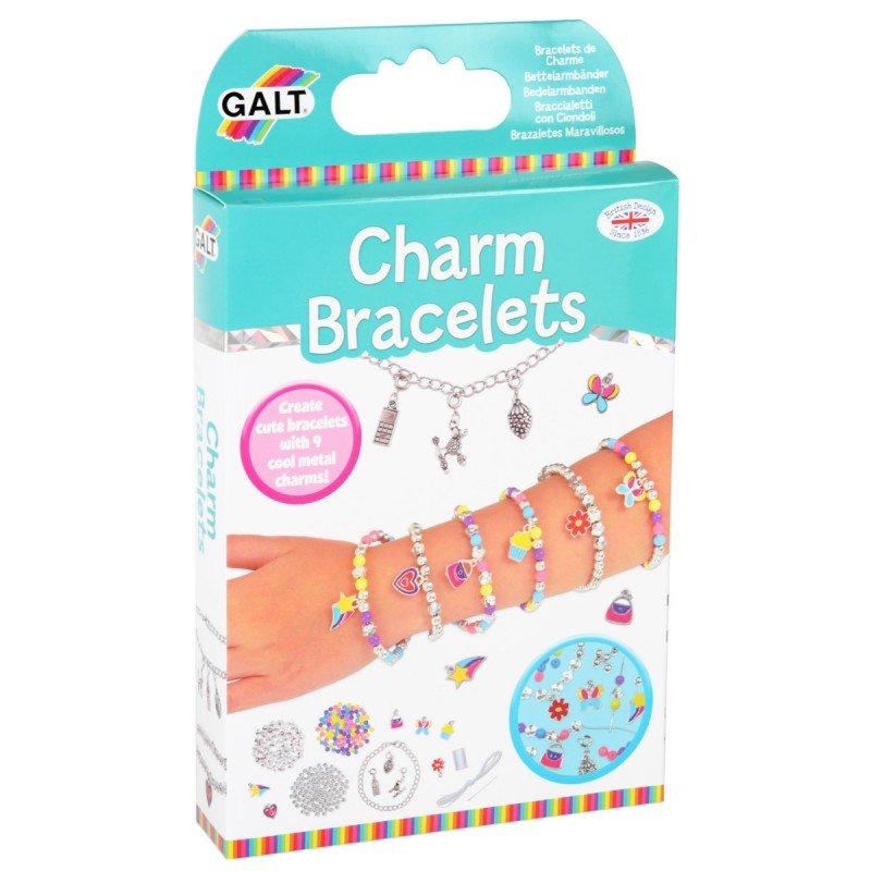 Pyssla med och gör amulettarmband från Galt, pyssel för barn i present eller julklapp, kreativa leksaker en uppskattad prenumeration för barn