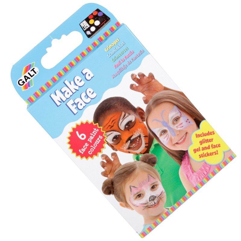 Pyssla och gör roliga ansiktsmålningar från Galt, pyssel för barn i present eller julklapp, kreativa leksaker en uppskattad prenumeration för barn