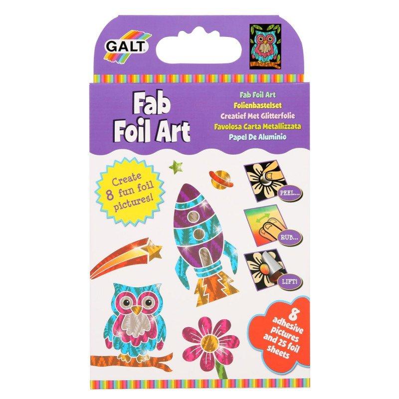 Pyssla med folie art från Galt, pyssel för barn i present eller julklapp, kreativa leksaker en uppskattad prenumeration för barn