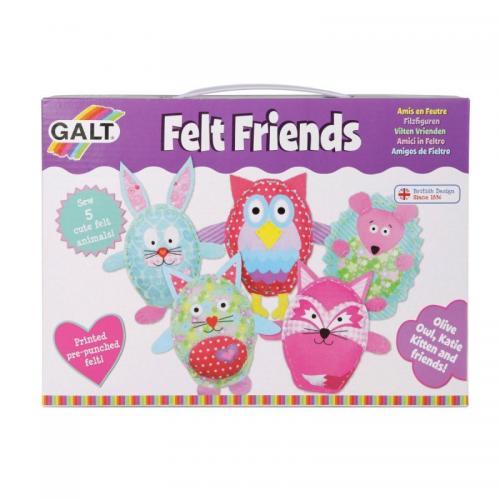 Pyssla och gör dina egna filt vänner från Galt, pyssel för barn i present eller julklapp, kreativa leksaker en uppskattad prenumeration för barn