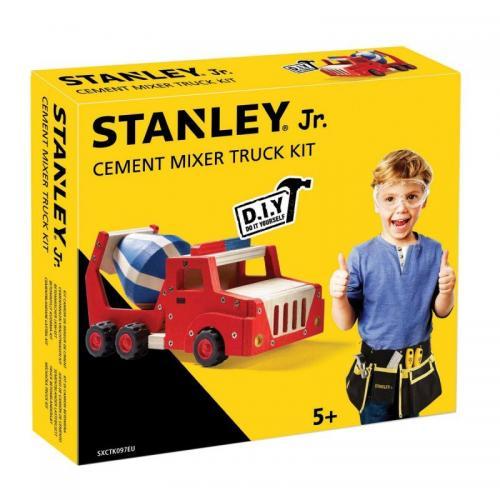 Bygga - Bygg din egen STANLEY jr betonglastbil, en prenumeration för barn på kreativa leksaker, spika, skruva och klistra ihop olika mästerverk med de medföljande figurssågade trädelarna. Anpassade verktyg för barn ingår.