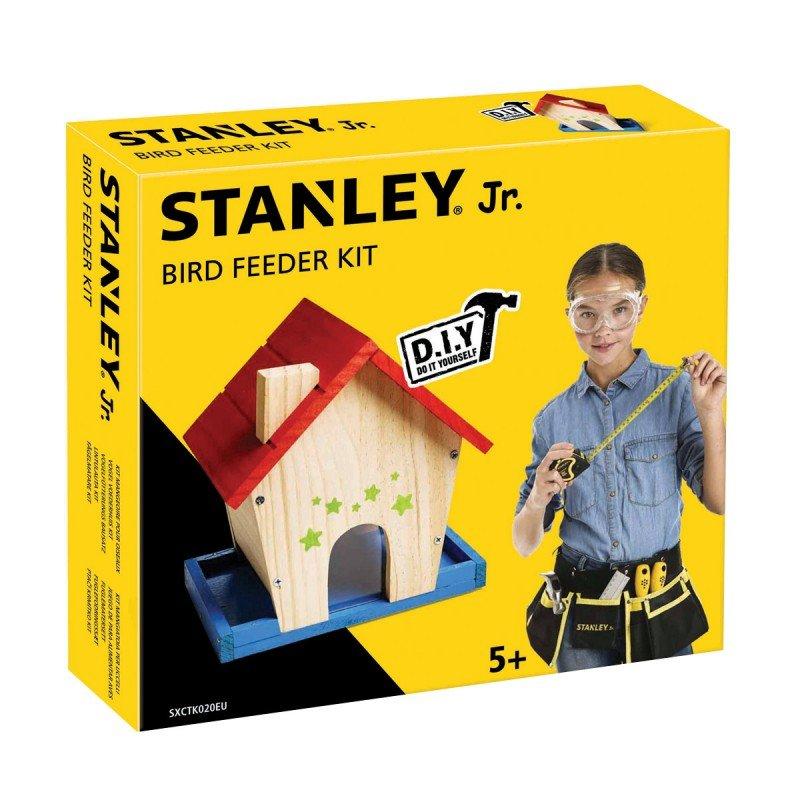 Bygga - Bygg din egen STANLEY jr fågelmatare, en prenumeration för barn på kreativa leksaker, spika, skruva och klistra ihop olika mästerverk med de medföljande figurssågade trädelarna. Anpassade verktyg för barn ingår.