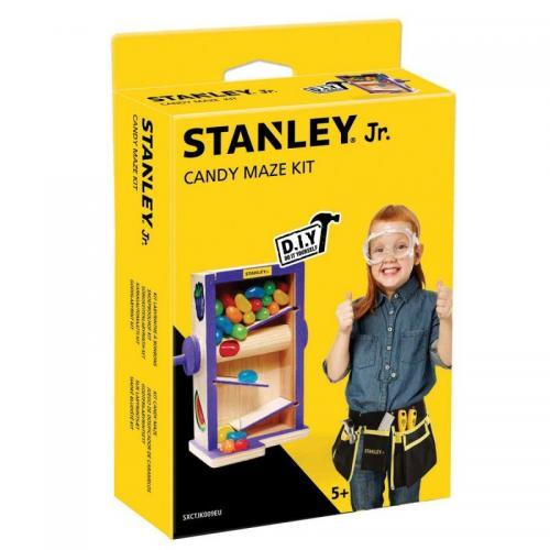 Bygga - Bygg din egen STANLEY jr godis labyrint, en prenumeration för barn på kreativa leksaker, spika, skruva och klistra ihop olika mästerverk med de medföljande figurssågade trädelarna. Anpassade verktyg för barn ingår.