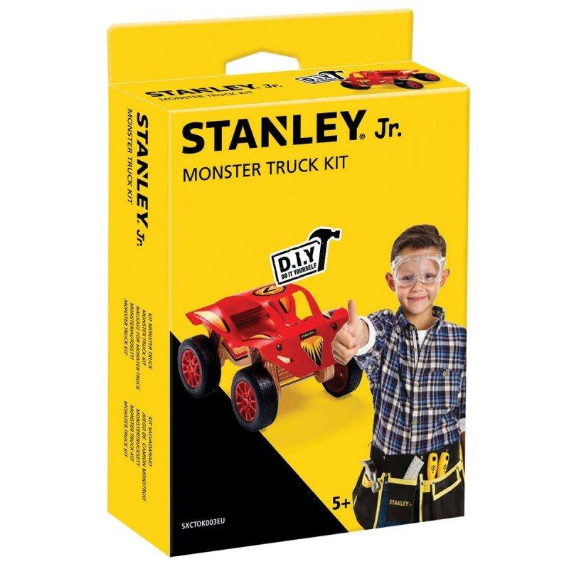 Bygga - Bygg din egen STANLEY jr monsterbil, en prenumeration för barn på kreativa leksaker, spika, skruva och klistra ihop olika mästerverk med de medföljande figurssågade trädelarna. Anpassade verktyg för barn ingår.