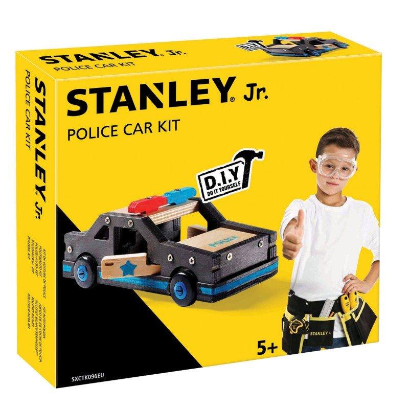 Bygga - Bygg din egen STANLEY jr polisbil, en prenumeration för barn på kreativa leksaker, spika, skruva och klistra ihop olika mästerverk med de medföljande figurssågade trädelarna. Anpassade verktyg för barn ingår.