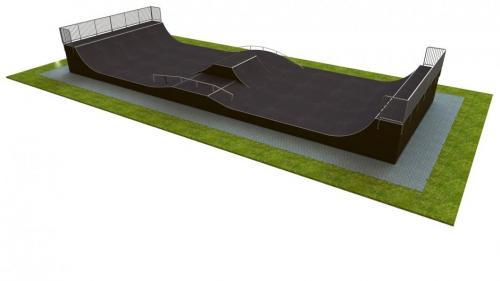 Base monolith skatepark H1.5xW9.0xL21.0m