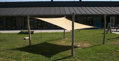 Solsegel komplett med stolpar och beslag