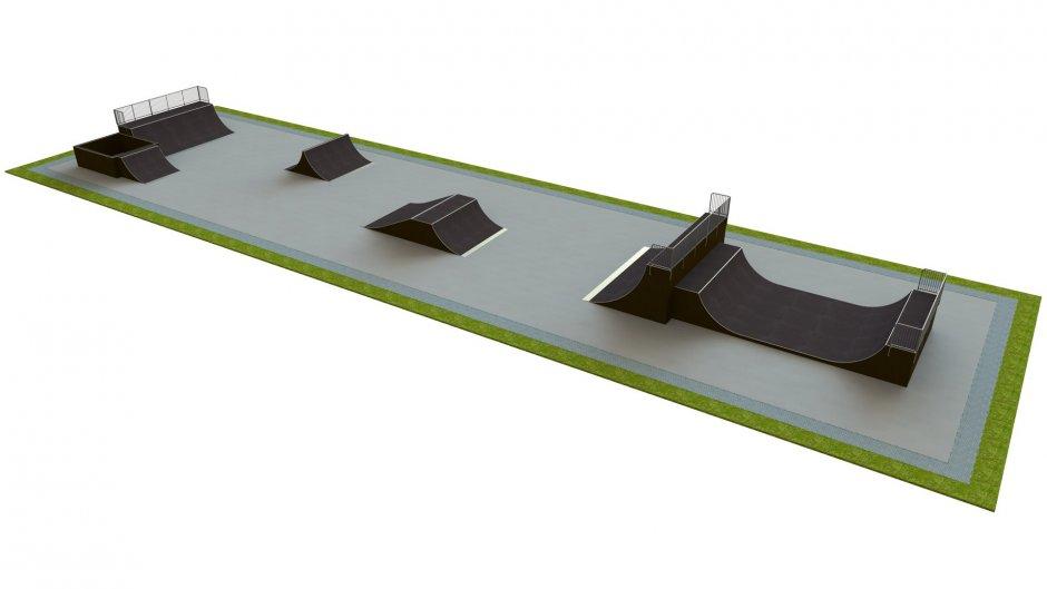 Base skatepark H3.0xW15.0xL60.0m