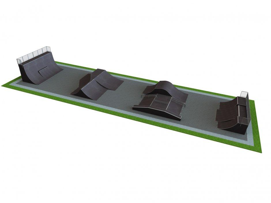 Base skatepark H4.0xW12.0xL45.0m