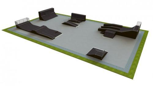 Base skatepark H3.0xW20.0xL35.0m
