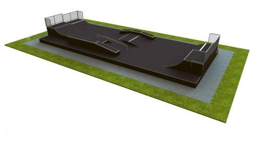 Base monolith skatepark H1.2xW9.0xL24.0m