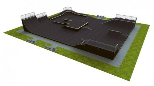 Base monolith skatepark H3.0xW21.0xL27.0m