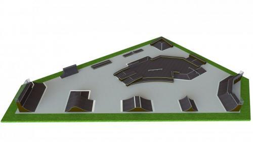 Base skatepark H3.5xW43.0xL62.0m