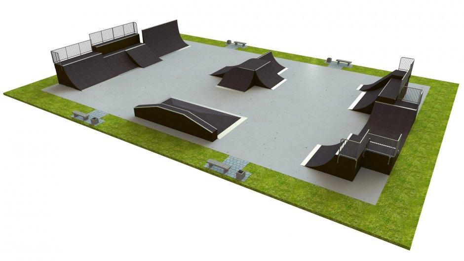 Base skatepark H3.0xW20.0xL30.0m