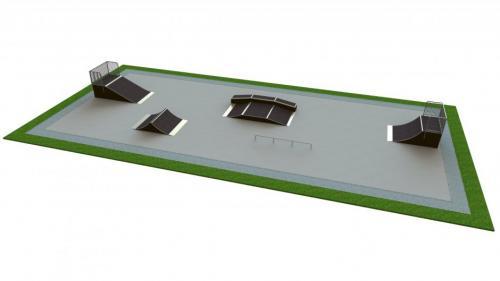 Base skatepark H1.2xW11.0xL28.0m